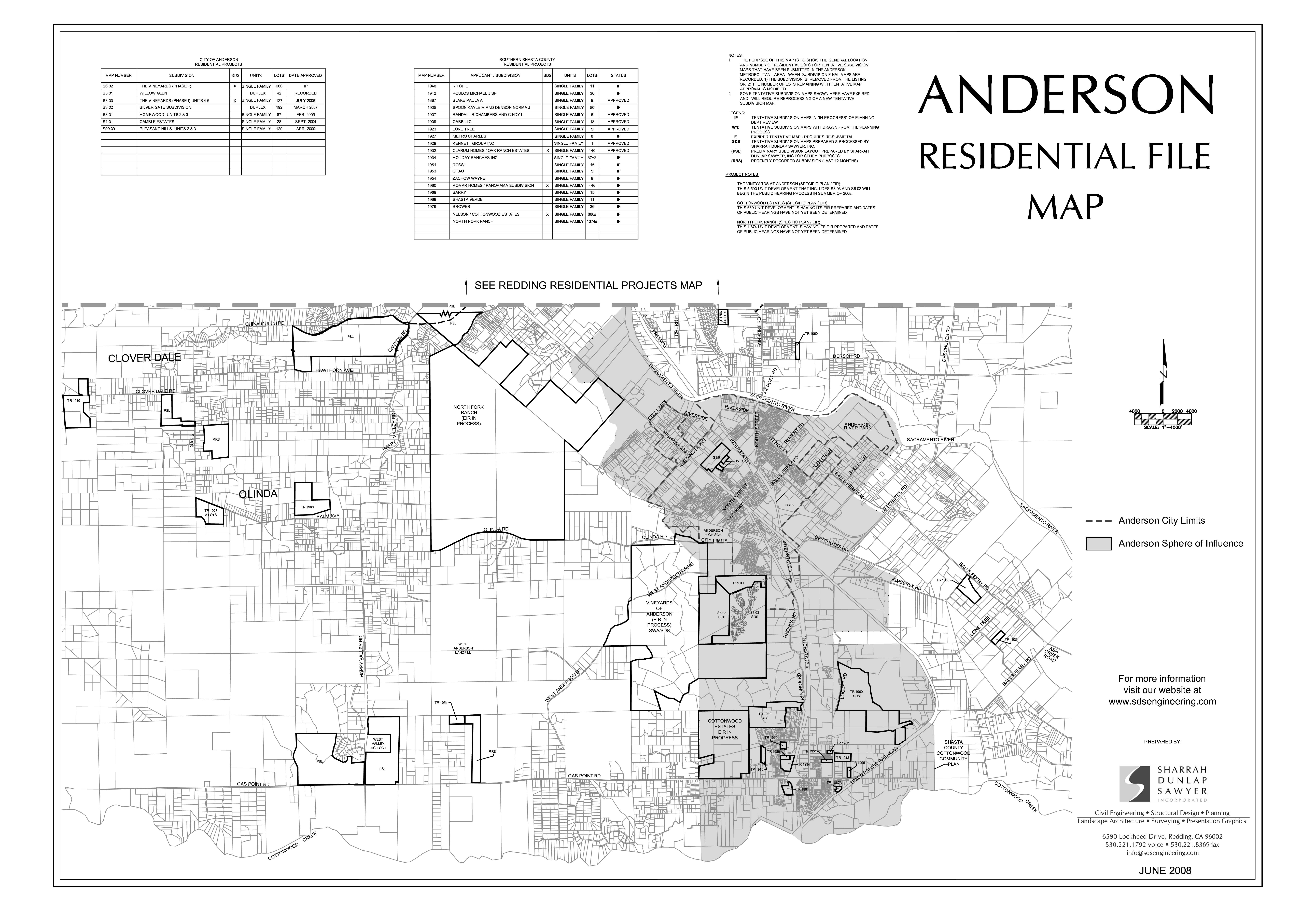 Anderson Residential Map 2008
