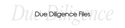 Due Diligence Files